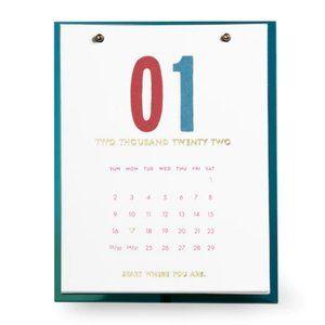 kate spade teal desktop calendar planner for 2022 nwt